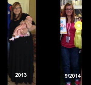2013 to September 2013 I had lost 55 pounds.
